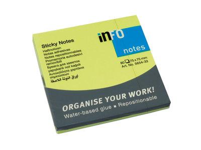 Info Notes 75x75mm brilliant groen blok a 80 vel
