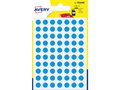 Etiket-Avery-8mm-rond---------blister-490st-blauw