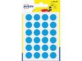 Etiket-Avery-15mm-rond--------blister-168st-blauw
