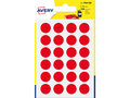 Etiket-Avery-15mm-rond--------blister-168st-rood