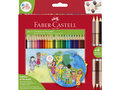 Kleurpotloden-Faber-Castell-driekant-Children-of-The------World-in-kartonnen-etui-á-24+3-stuks
