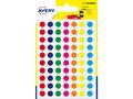 Etiket-Avery-8mm-rond---------blister-420st-assorti